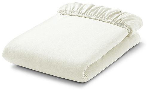 MAMO-TATO Prześcieradło frotte do łóżeczka 60x120cm - ECRU