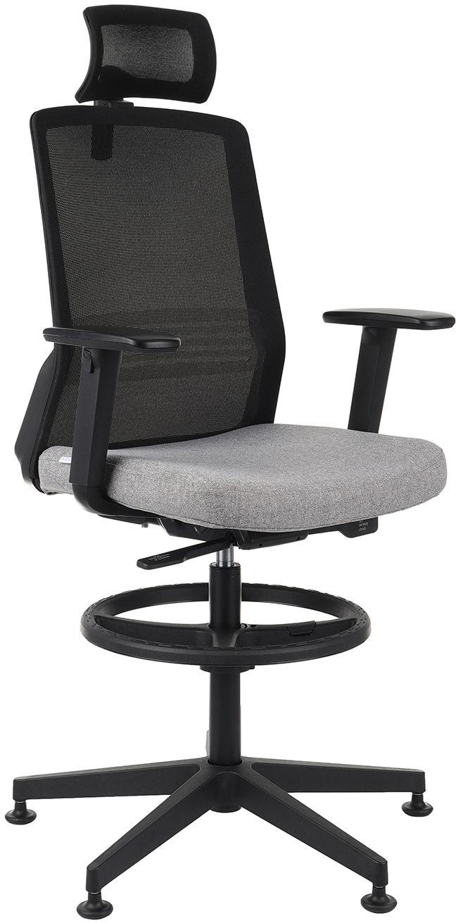 Krzesło Coco BS HD RB, wysokie z podnóżkiem