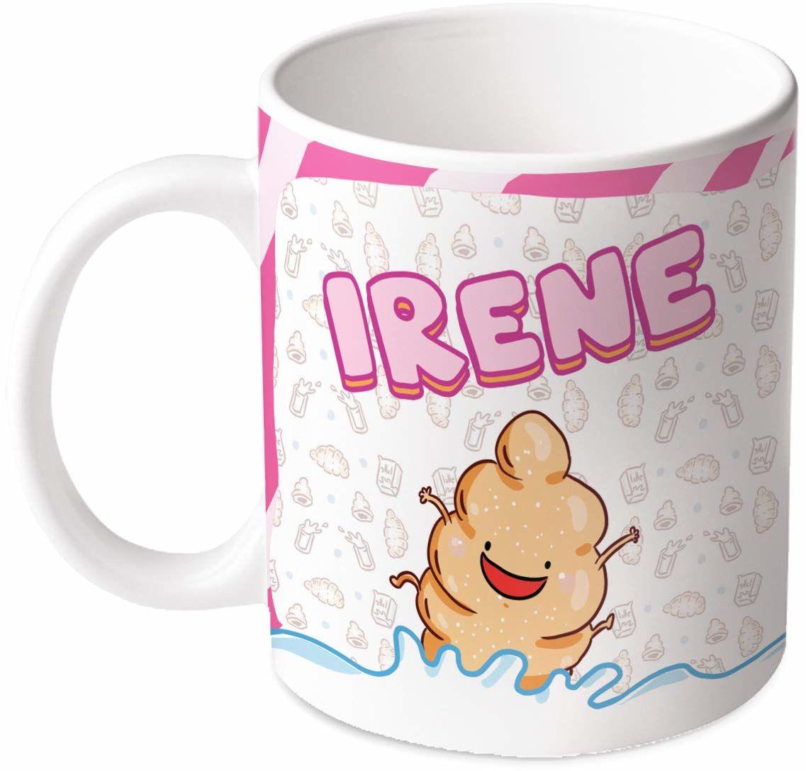 M.M. Group Filiżanka z imieniem i znaczeniem Irene, 11 uncji, ceramika, wielokolorowa
