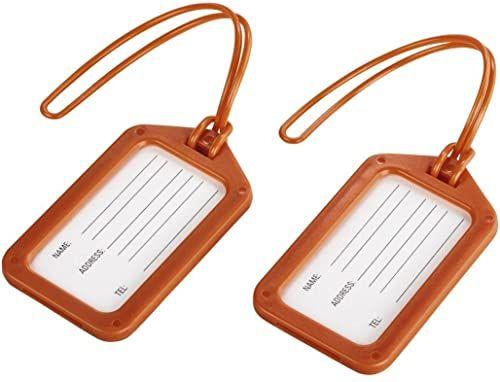 Hama Zawieszka do walizki z tabliczką adresową, zestaw 2 sztuk, pomarańczowy (pomarańczowa) - 00105324