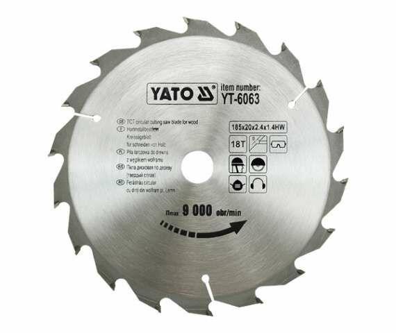 TARCZA WIDIOWA 185X18TX20MM Yato YT-6063 - ZYSKAJ RABAT 30 ZŁ