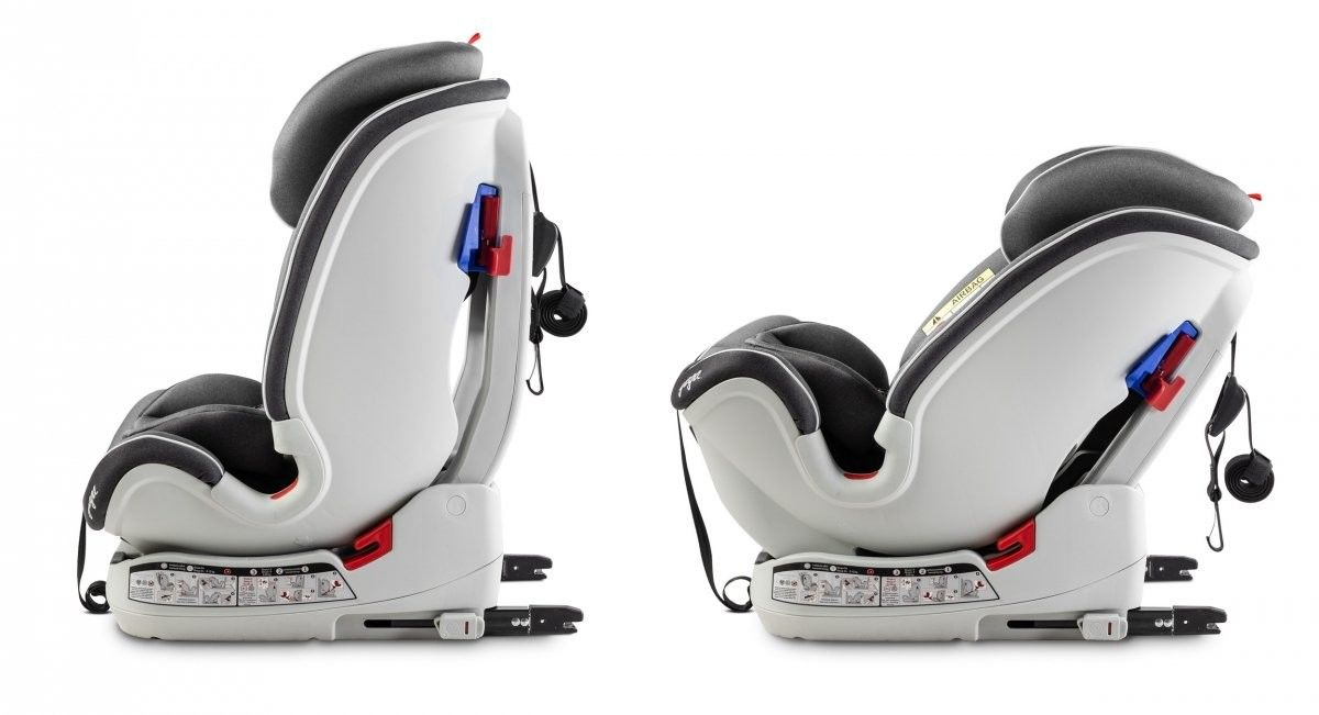 Caretero Fotelik samochodowy Yoga 0-25 Kg Isofix Graphite