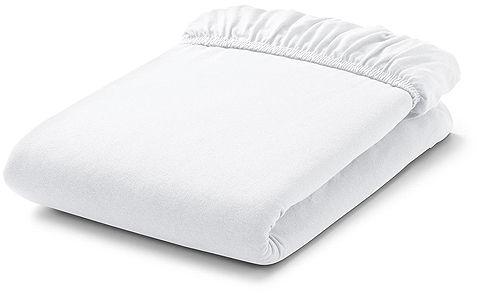 MAMO-TATO Prześcieradło frotte do łóżeczka 60x120cm - BIAŁE