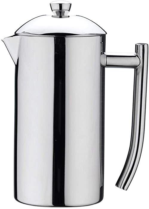 Café Stål CMD-06MS zaparzacz do kawy z podwójnymi ściankami ze stali nierdzewnej 18/10  powierzchnia nielustrzana, 4 filiżanki do mokki, 0,51 l