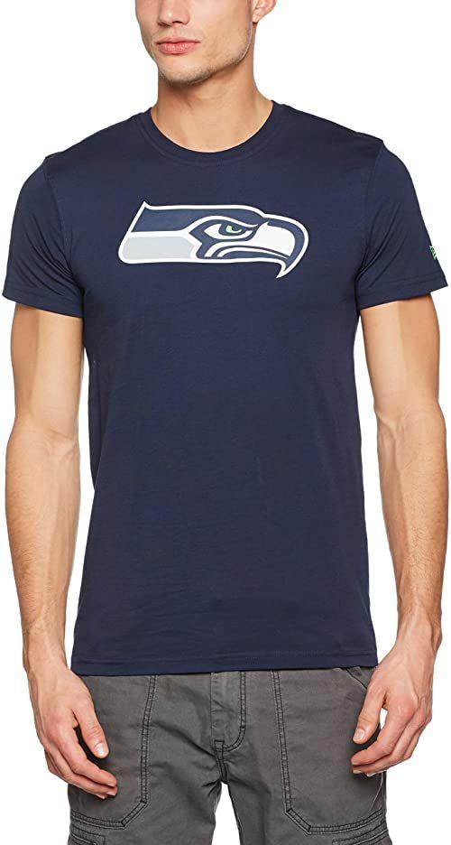 adidas męska koszulka Seattle Seahawks T-shirt męski NIEBIESKI S