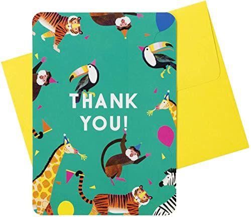 Talking Tables impreza zwierzęta kartki z podziękowaniami 8 szt, papier