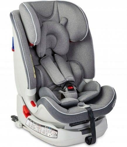 Caretero Fotelik samochodowy Yoga 0-25 Kg Isofix Grey