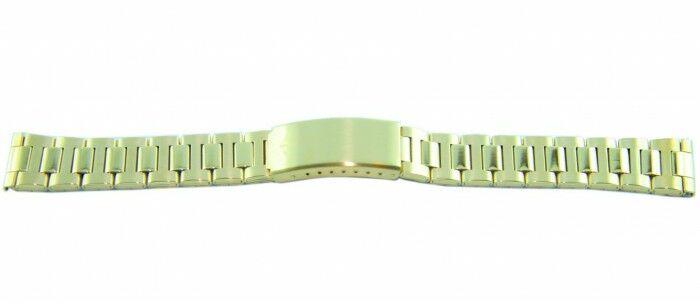 Bransoleta stalowa złota BISSET 18mm