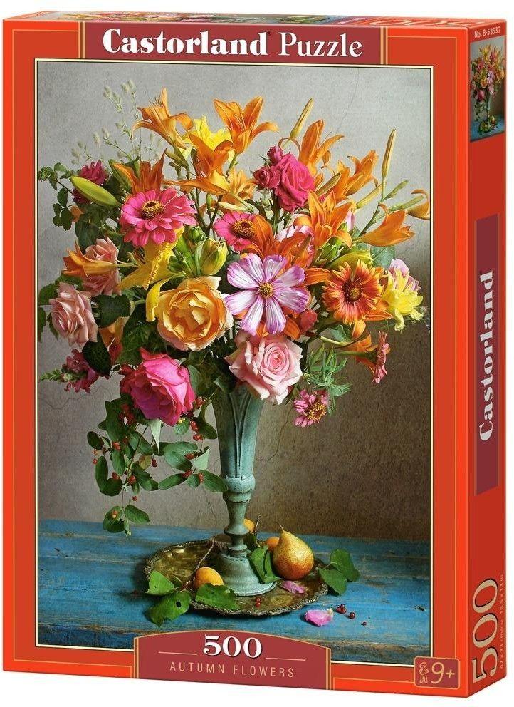 Puzzle Castorland 500 - Jesienne Kwiaty, Autumn Flowers