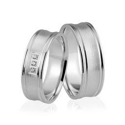 Obrączki srebrne z kolorowymi kamieniami - wzór Ag-336