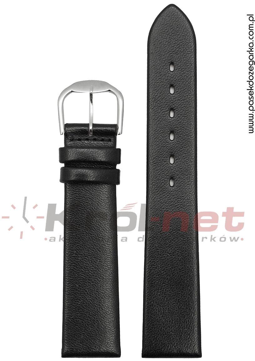 Pasek RE020/24 - czarny, gładki