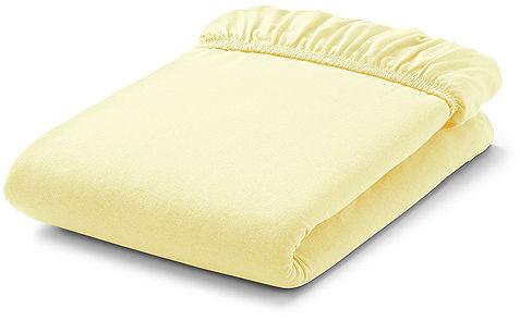MAMO-TATO Prześcieradło frotte do łóżeczka 70x140cm - CYTRYNOWE