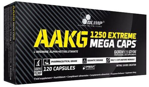 Olimp AAKG 1250 Extreme Mega Caps - Uzupełnia dietę w L-argininę - 120 kaps.