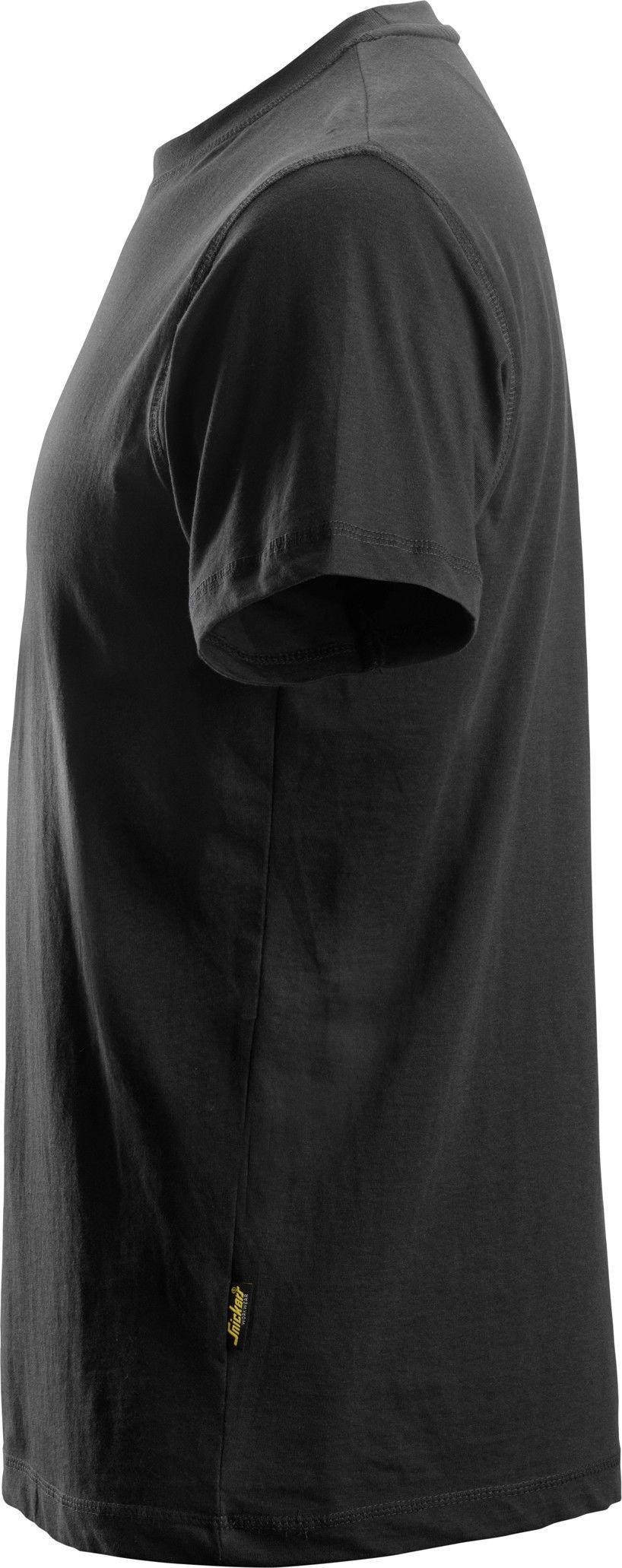 T-shirt koszulka męska, czarna, rozmiar L, 2502 Snickers [25020400006]