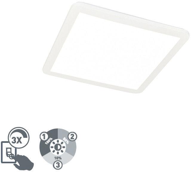 QAZQA Plafon biały 40cm IP44 3-stopniowe ściemnianie LED 2700K - Steve