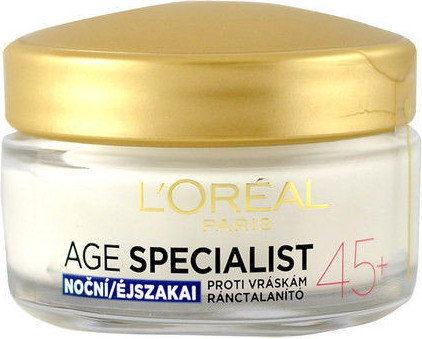 LOréal Paris Age Specialist 45+ krem na noc przeciw zmarszczkom 50 ml + do każdego zamówienia upominek.