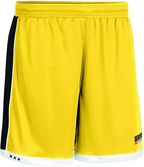 Derbystar spodnie Brillant krótkie, L, żółte, czarne, 6001050520