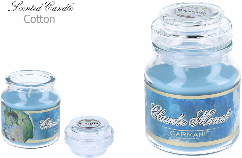 Carmani, świeczka zapachowa american mały - C. Monet. Cotton