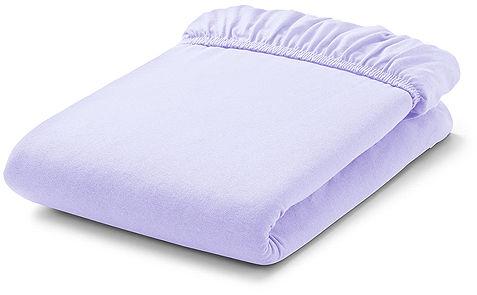 MAMO-TATO Prześcieradło frotte do łóżeczka 70x140cm - LAWENDOWE