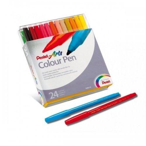 Pisaki 24 kolory PENTEL ARTS COLOR PEN /S360-24/