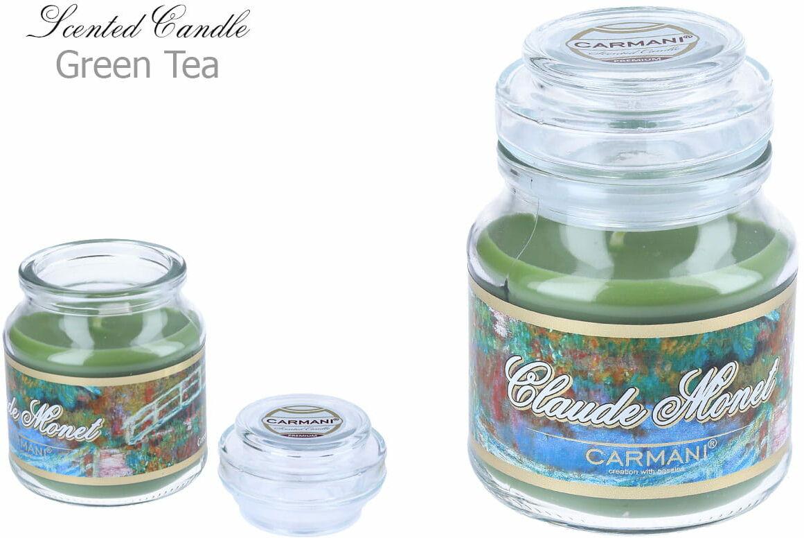 Carmani, świeczka zapachowa american mały - C. Monet. Green Tea