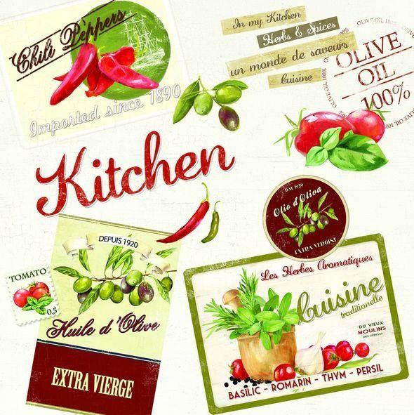 SERWETKI PAPIEROWE - Vintage Aperitif Kitchen