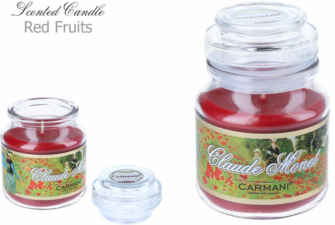 Carmani, świeczka zapachowa american mały - C. Monet. Red Fruit