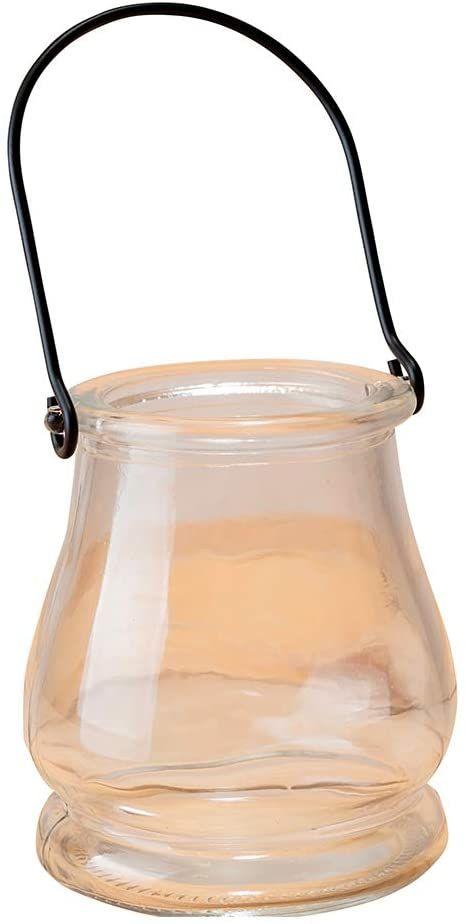Mopec I340 świecznik szklany z metalowym uchwytem, 8 x 10 cm, wielokolorowy, 6 sztuk