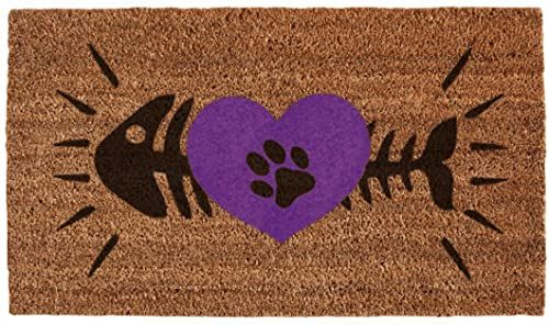 SHOE-MAX YH 101966 Cats Heart mata podłogowa, 44 x 74 cm, 2,1 kg