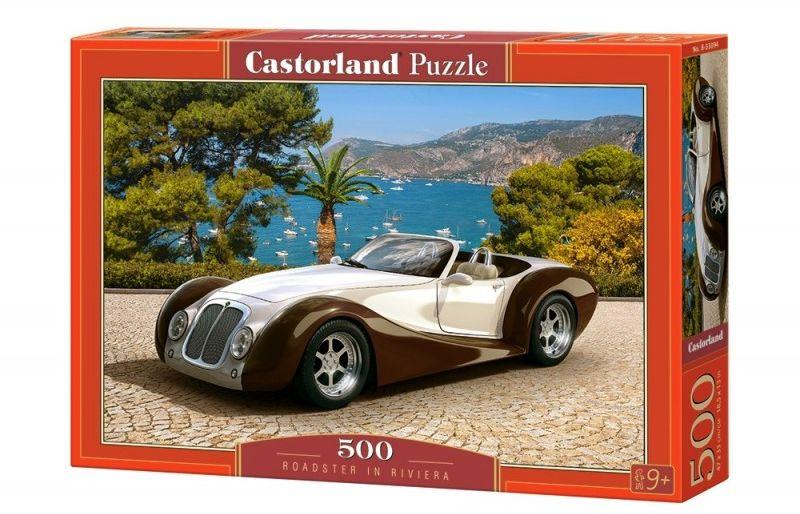 Puzzle 500 elementów - Samochód Roadster w Riwierze
