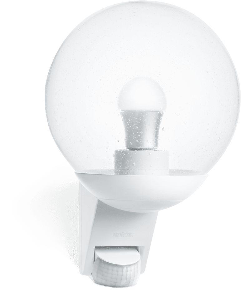 Oprawa z czujnikiem L 585 s ST005917 Steinel zewnętrzna oprawa świetlna w stylu nowoczesnym w kolorze białym