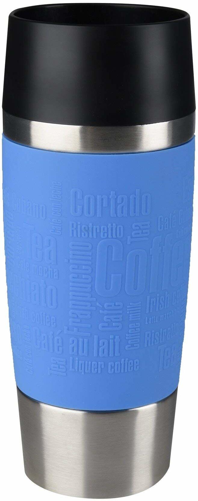 TEFAL Travel Mug K3086114 Kubek termiczny 0,36 L Jasnoniebieski, Ze stali nierdzewnej, 100% szczelność, System picia 360 , Utrzymywanie ciepła do 4h, zimna do 8h