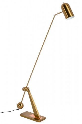 Lampa podłogowa Crane złoto - miedziana
