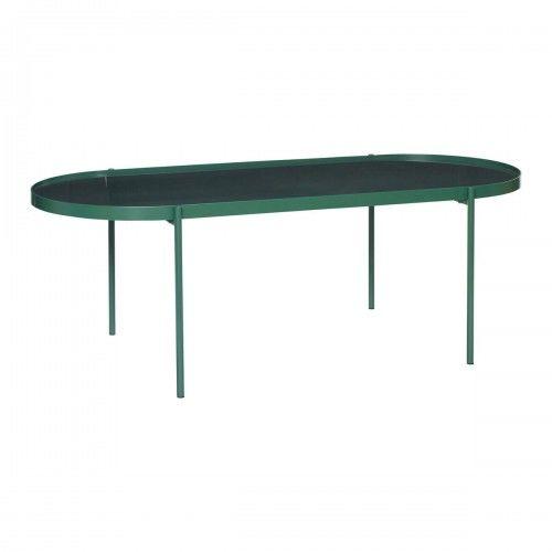 Zielony stolik kawowy metal i szkło