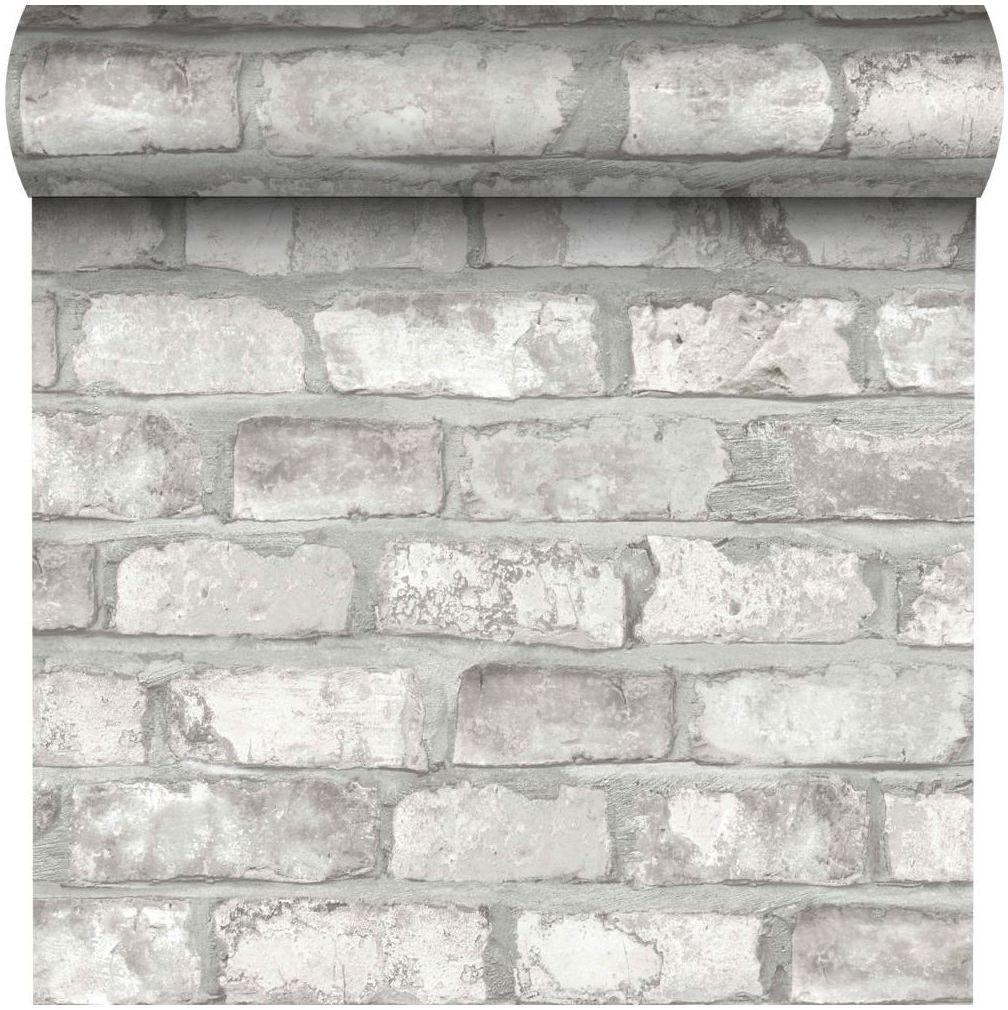 Tapeta WHITE BRICK 3D biała imitacja cegły winylowa na flizelinie INSPIRE
