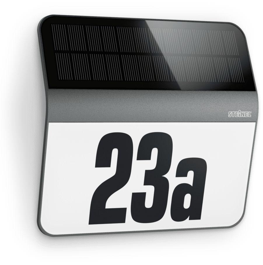Oprawa solarna z czujnikiem zmierzchu Xsolar LH-N ST035730 Steinel nowoczesna oprawa ścienna w kolorze antracytu