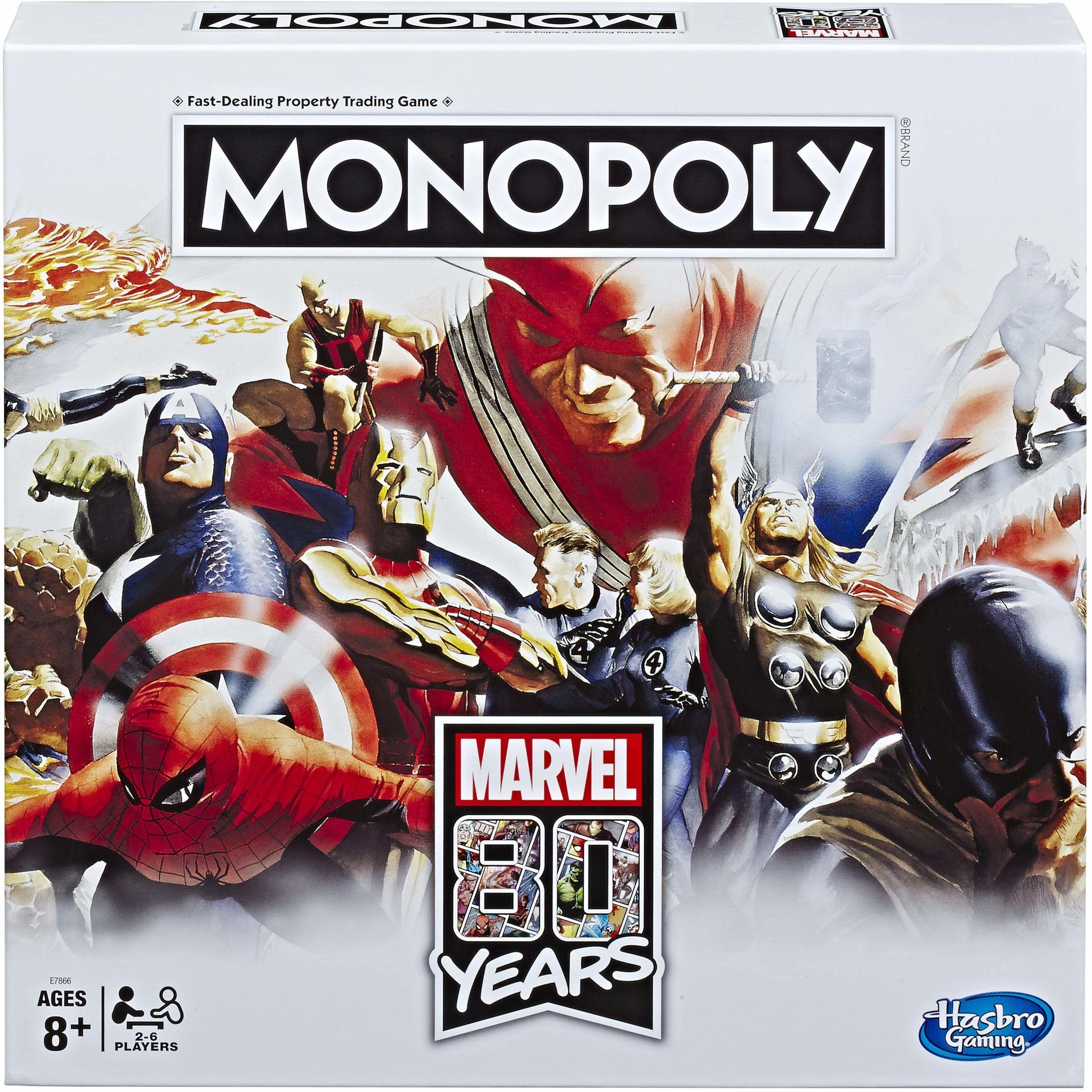 Monopoly Marvel 80. urodziny gra planszowa [wersja francuska]