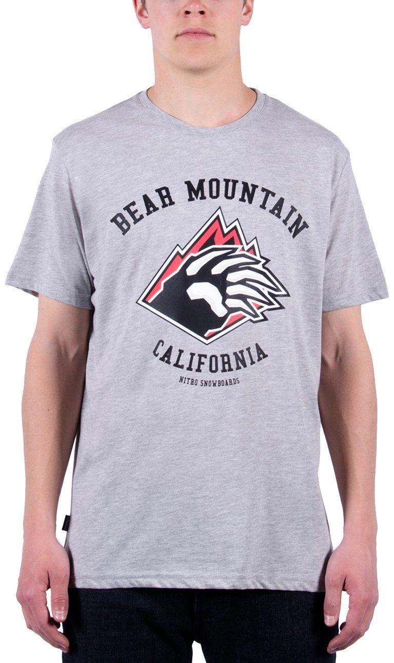 Nitro Męski T-shirt Bear MTN Tee 15, Light Heat Grey, M