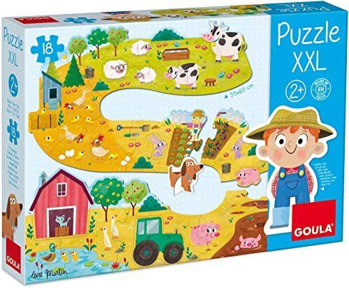Goula 53176 drewniane puzzle, wielokolorowe