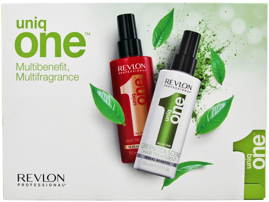 Zestaw Revlon Uniq One maska, odżywka czerwona + green tea 2 x 150ml