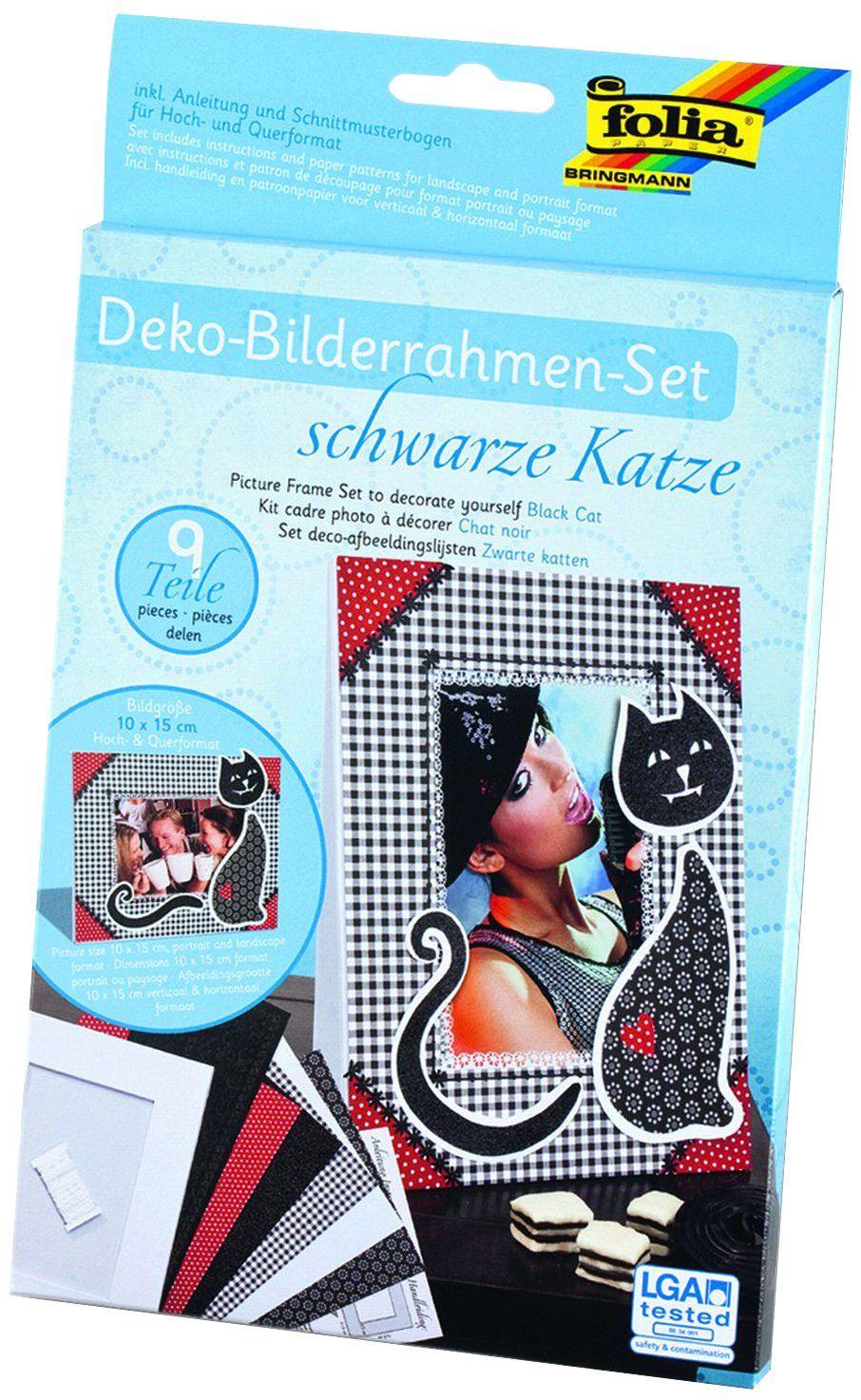 """folia 23331 - ramka na zdjęcia - zestaw """"Czarny kot"""", 9-częściowy, do zdjęć i zdjęć w formacie 10 x 15 cm"""
