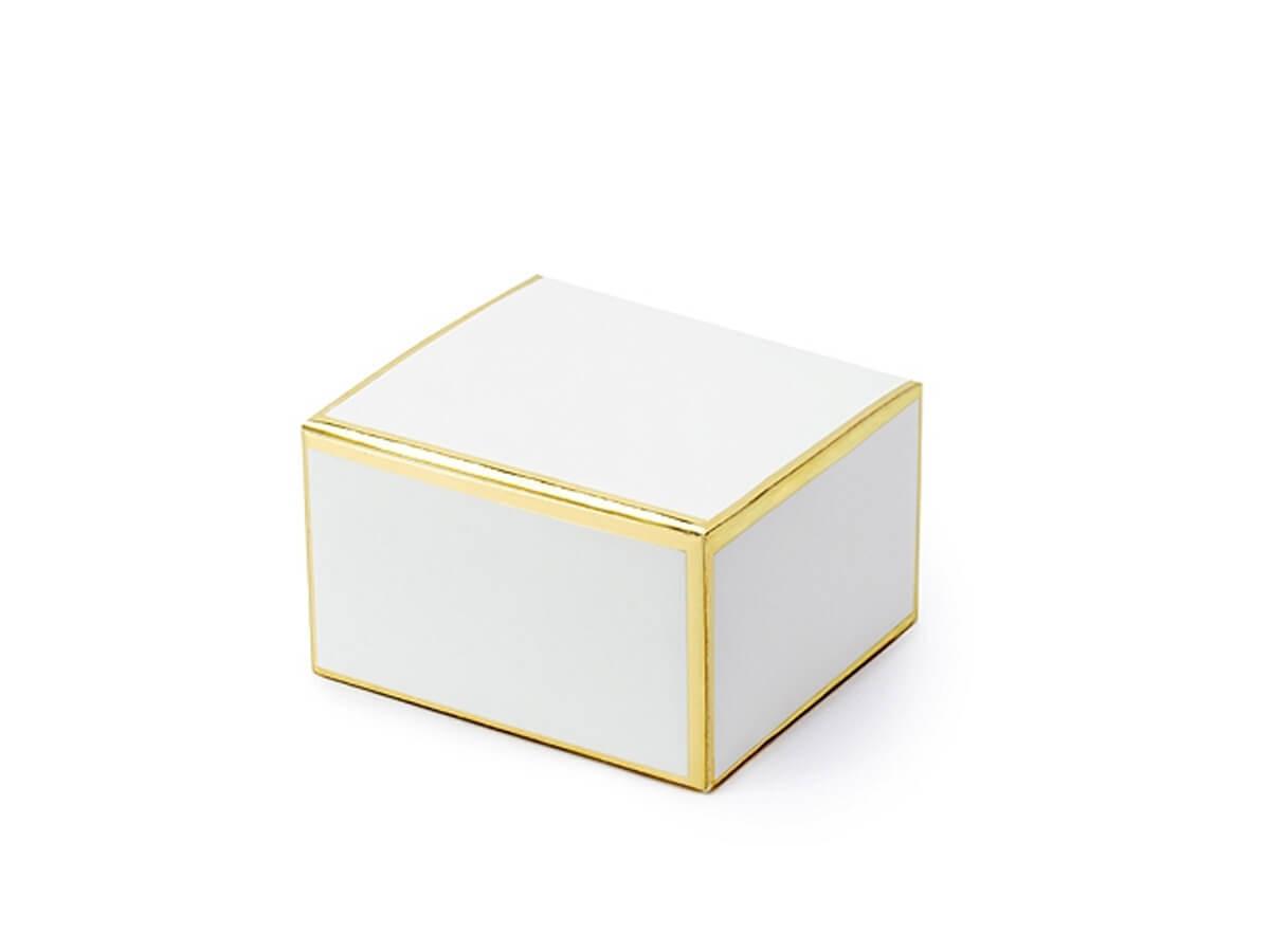 Pudełeczka dla gości ze złotymi brzegami - 10 szt.