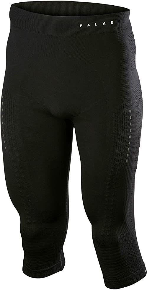 Falke Męskie impulsy Running 3/4 M TI spodnie bazelayer, czarne (Black 3000), 01 (obwód bioder 96-99 cm)