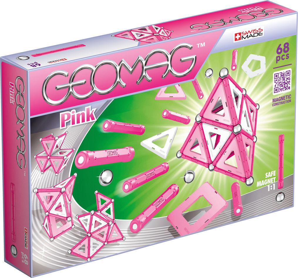 GeoMag - Klocki magnetyczne - Kids Pink Panels 68 el.342