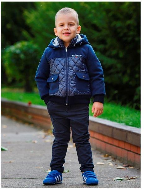 Militarna kurtka dla chłopca 98-128 Mikołaj granat