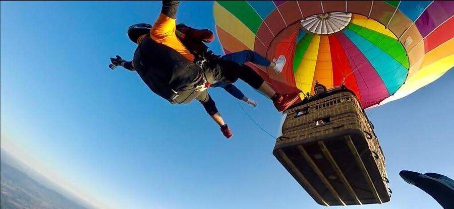 Skok spadochronowy z balonu - Wrocław skoczek + pasażer