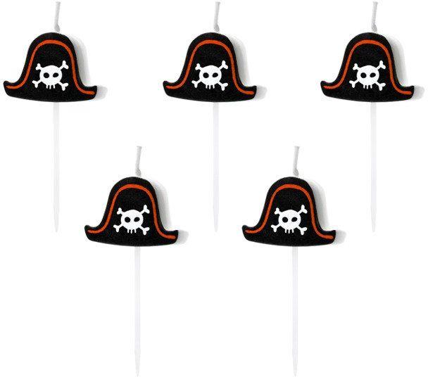Świeczki urodzinowe Piraci 5 sztuk SCS-3