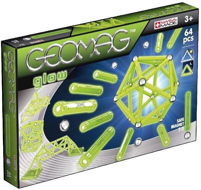 GeoMag - Klocki magnetyczne - Glow 64 el. 336
