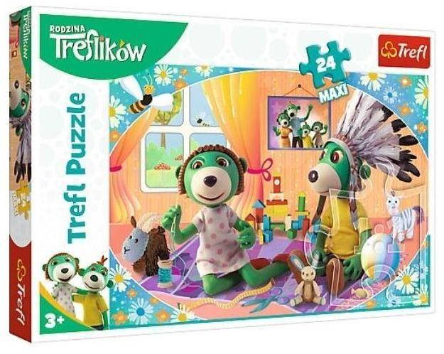Puzzle 24 maxi - Rodzina Treflików TREFL