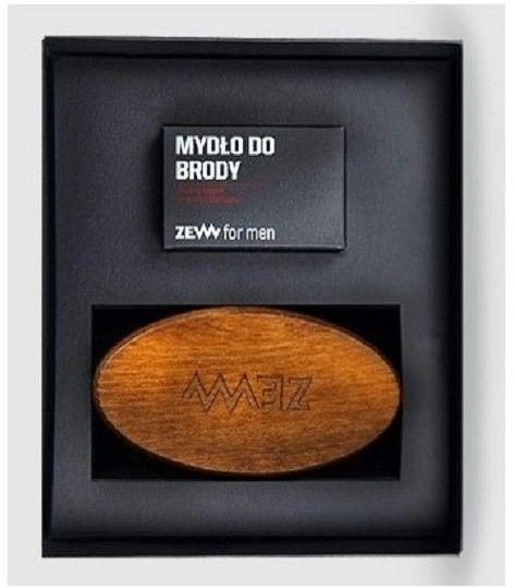 Zew For Men Pakiet Brodacza ZESTAW Mydło do brody 85 ml + Szczotka